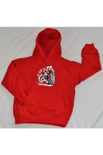 Red graphics hoodie